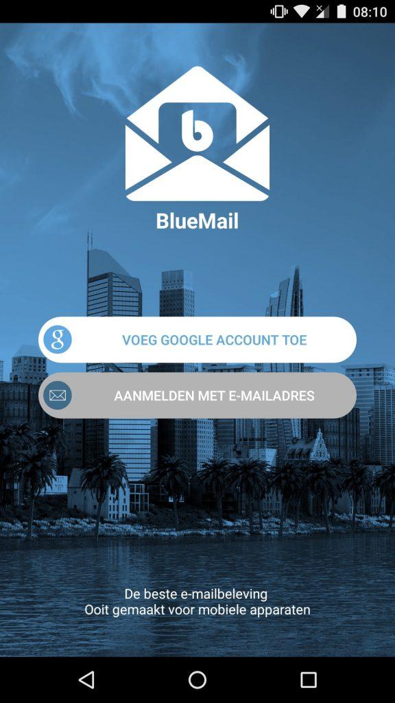 bluemail aanmelden