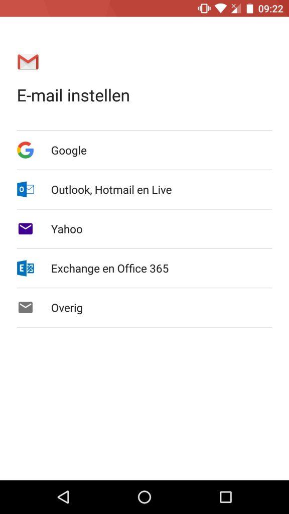 gmail instellen